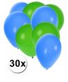 Party ballonnen groen en blauw