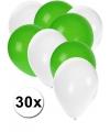 Party ballonnen wit en groen