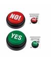 YES en NO! buzzer knoppen cadeau