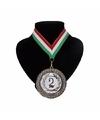 Landen lint nr. 2 medaille rood wit en groen