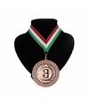 Landen lint nr. 3 medaille rood wit en groen